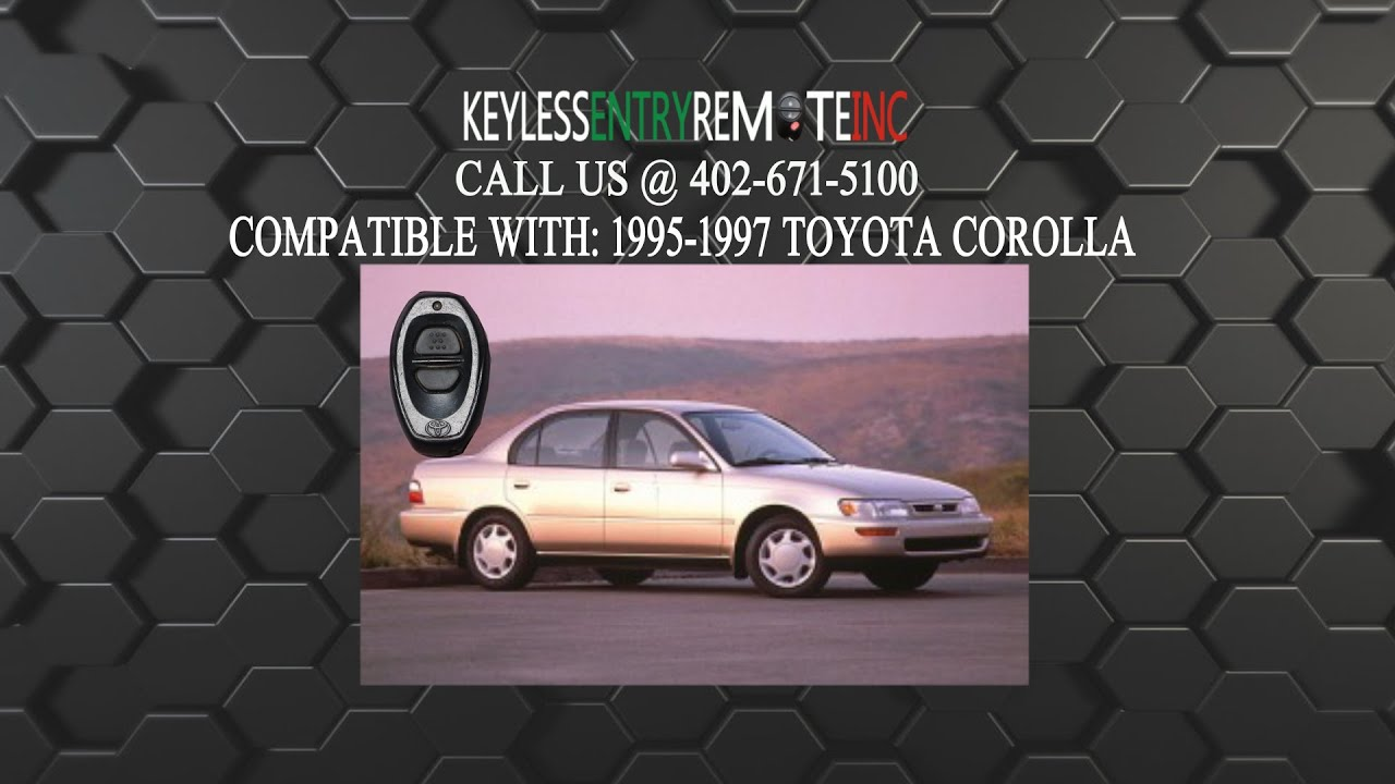 How To Replace Toyota Corolla Key Fob Battery 1995 1996 1997
