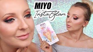 Test palety MIYO Insta Glam BeautyVTricks | Tęczowy makijaż