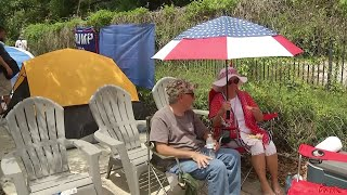 Trump supporters set up camp ahead of speech