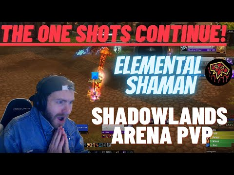 THE ONE SHOTS CONTINUE!! Elemental Shaman Arena Shadowlands PvP