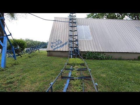 Blue Flash Famous Backyard Roller Coaster POV!