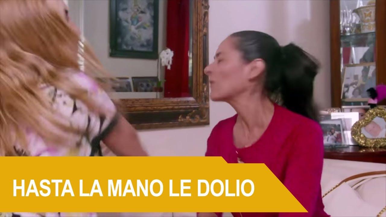 Sandra le voltea la cara a Andrea de un bofetadón   Rica Famosa Latina   Temporada 3  Episodio 25
