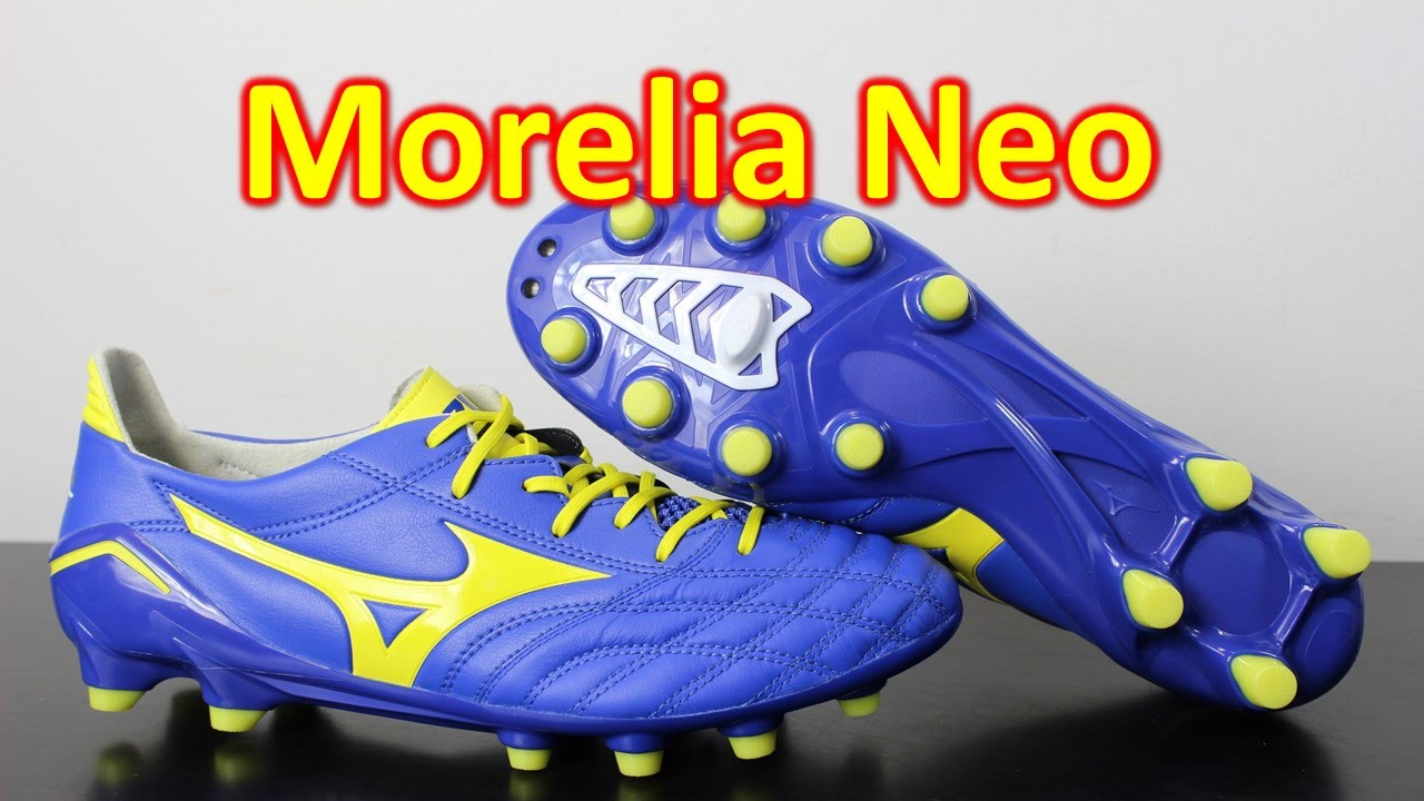 buy popular 097e5 3b0dc Mizuno Morelia Neo Dazzling Blue Bolt - Unboxing + On Feet - YouTube