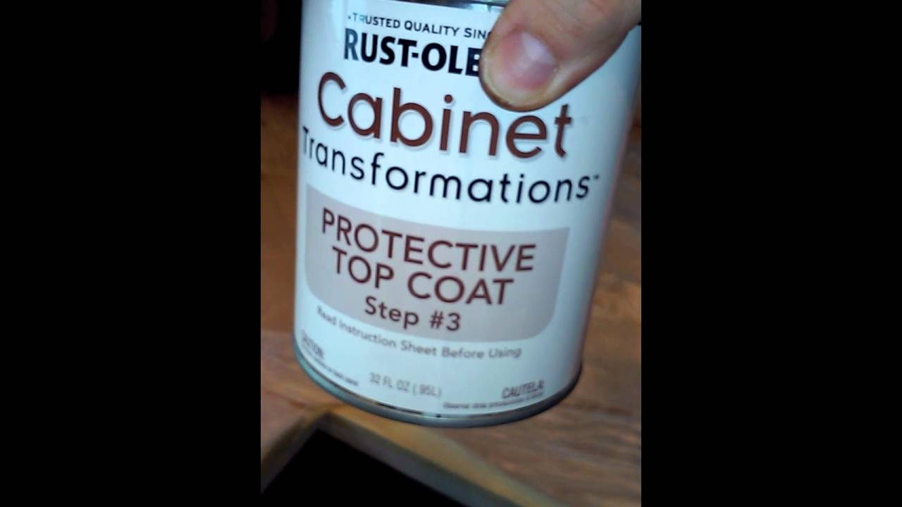 Rustoleum cabinet transformations step 3 - YouTube