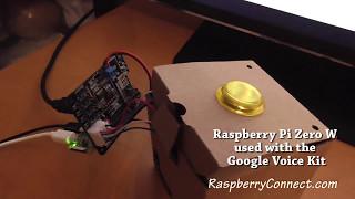 Raspberry Pi Zero W using Google AIY Voice Hat
