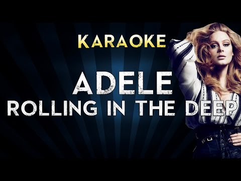 Adele - Rolling in the Deep | LOWER Key Karaoke Instrumental Lyrics Cover Sing Along