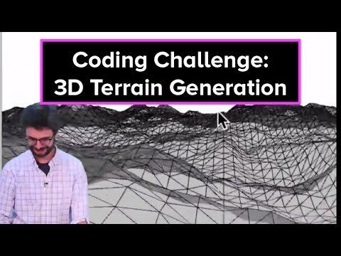 Live Stream #37: 3D Terrain Generation