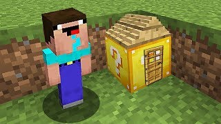 НУБ В 1 БЛОК ПОСТРОИЛ ДОМ В ЛАКИ БЛОКЕ В Майнкрафте! Minecraft Мультики Майнкрафт троллинг Нуб и Про