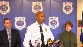 Albany Police Chief, Mayor announce arrest and suspensions of officers