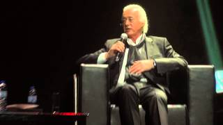 Jimmy Page @ Olympia in Paris, May 21 2014 for Led Zeppelin listening party for remastered albums