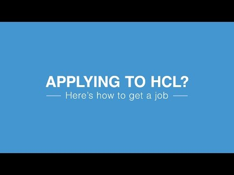 Applying for a job at HCL?