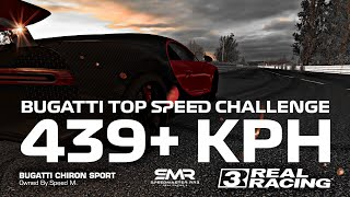 Real Racing 3 Bugatti Le Mans Top Speed Challenge 439+ KPH