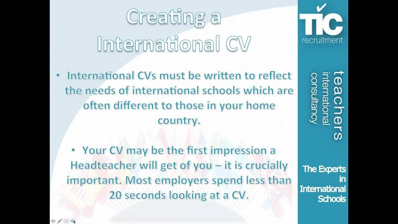 Creating an international teaching cv youtube creating an international teaching cv yelopaper Images