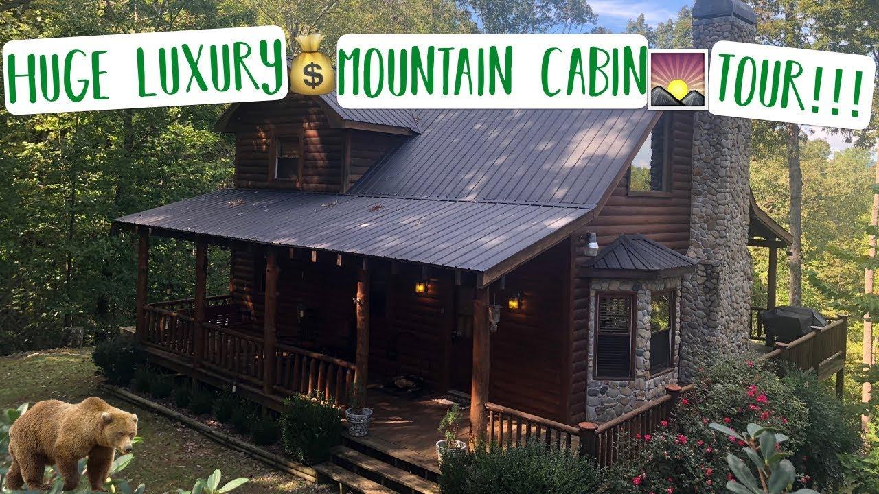 Luxury Cabin In The Woods Mountain Cabin Tour Blue Ridge Georgia Mountains Youtube