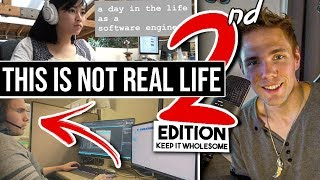 THIS IS NOT REAL LIFE | 2 - 'A dAy iN THe LiFe oF a SoFtWaRe EnGiNeEr' Wholesome Edition #grindreel