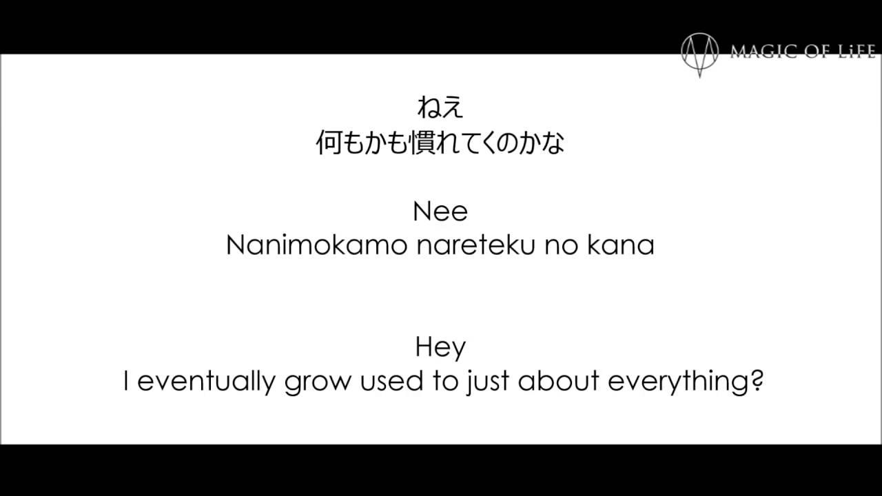 Double Magic of Life Lyrics video full size (Japanese, romaji, plus English sub)