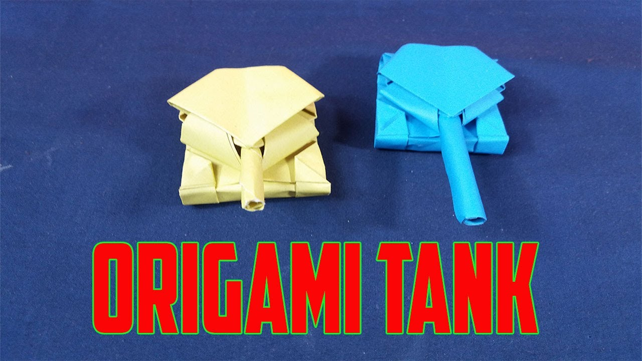 How to make a tank of paper? – Origami | 720x1280