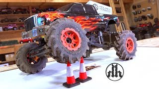 Mega Monster Mud Truck BUILD & Holmes Hobby 3500kv PULLER PRO BL Motor UPGRADE! | RC ADVENTURES