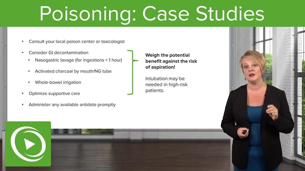 Poisoning: Case Studies – Emergency Medicine | Lecturio
