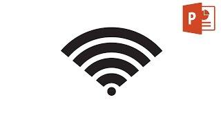 Draw WiFi icon in Microsoft PowerPoint 2016