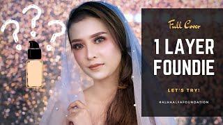Makeup Full Coverage.. CUMA Pakai 1 LAYER FOUNDATION..???