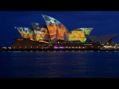 Sydney Opera House Lights Up With Tribute To Firefighters