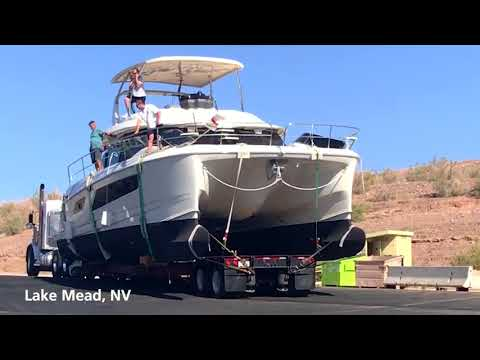 MarineMax Transports Aquila 44 Power Catamaran to Lake Mead, Nevada!
