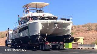 MarineMax Transports Aquila 44 Power Catamaran to Lake Mead, Nevada!