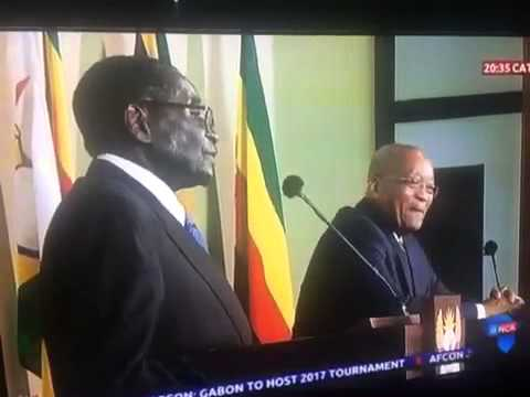 President Mugabe on Cecil John Rhodes Statue in South Africa