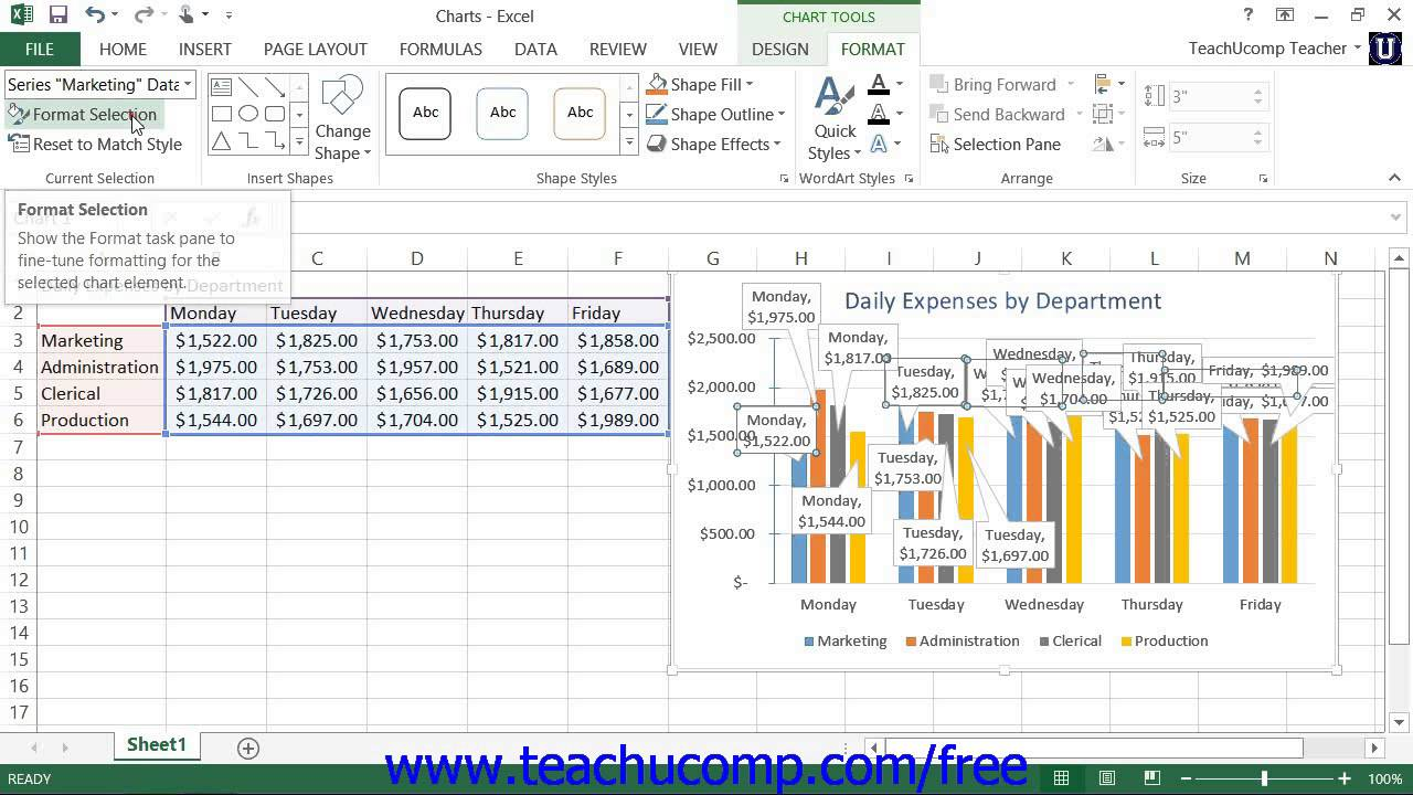 Excel 2013 tutorial formatting data labels microsoft training lesson excel 2013 tutorial formatting data labels microsoft training lesson 286 ccuart Gallery