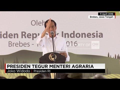 Jokowi Semprot Menteri Agraria