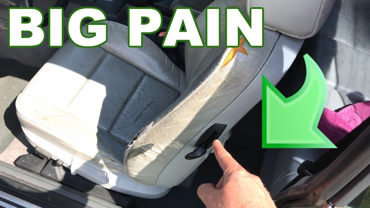 How To Fix Bmw E36 Broken Seat Handle Lever Youtube
