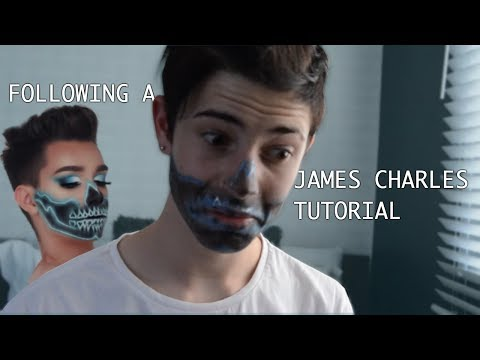 TRYING TO FOLLOW A JAMES CHARLES HALLOWEEN MAKEUP TUTORIAL!!! thumbnail