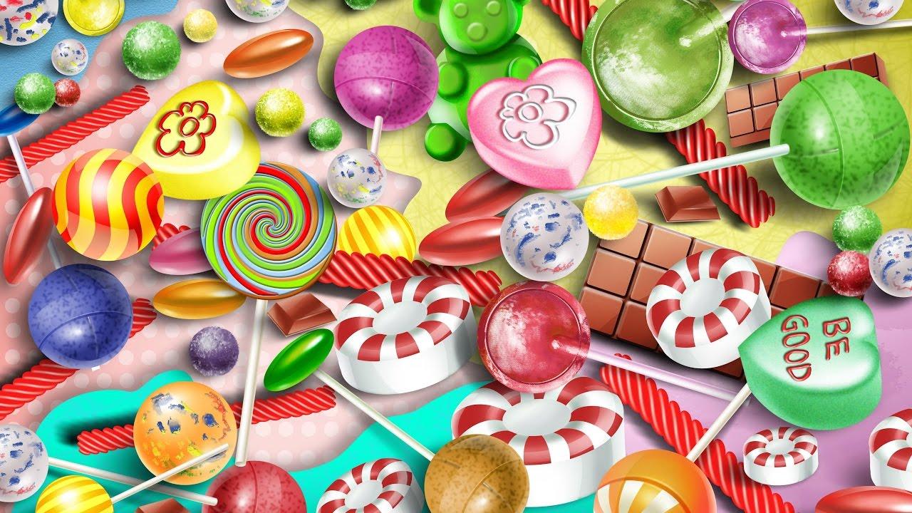 Много конфет картинки для детей