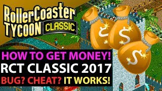Roller Coaster Tycoon Classic PC Gameplay - EASY MONEY MAKING CHEAT! Works On Most Levels!