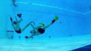 Underwater Rugby Penalty Throw Training in Turku 2018 09 17