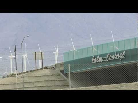 Wind Farm Turbines of Palm Springs, California (HD)