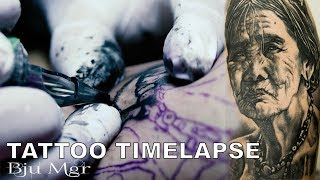 TATTOO TIMELAPSE - BJU MGR (WHANG OD :THE KALINGA TATTOO MAKER)