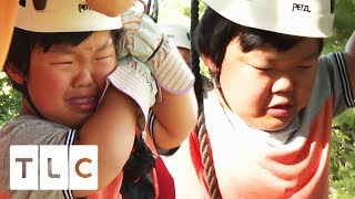 Alex Has A Hysterical Meltdown On A Zip-Line | 7 Little Johnstons