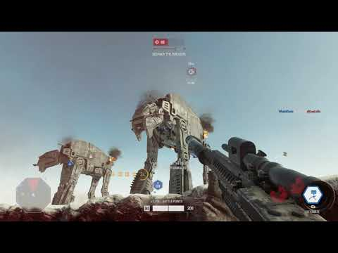 [4K] SWBF2 Crait Resistance Galactic Assault First Place Finish Xbox One X