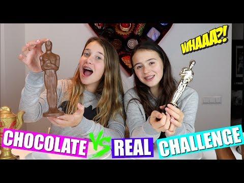 CHOCOLATE VS REAL CHALLENGE!
