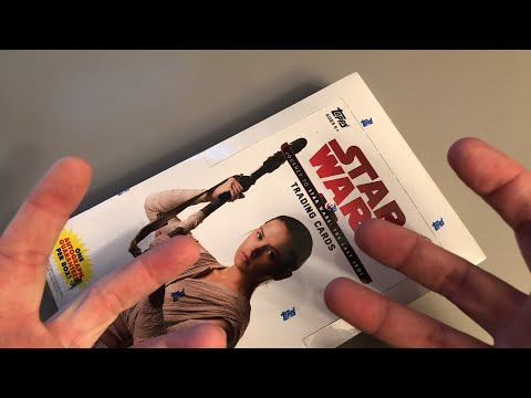 THE LAST JEDI TRADING CARDS?! NO!!  Live!