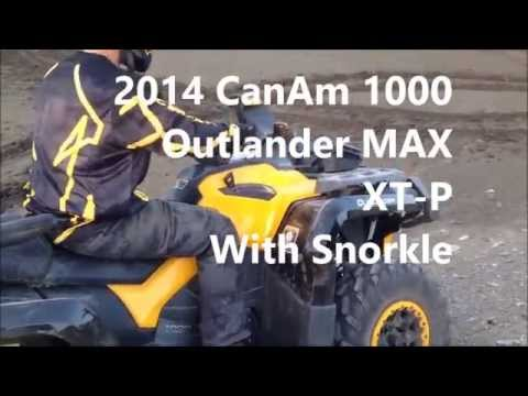 2014 Can Am 1000 Outlander MAX XTP and Limited Playing in the Mud.