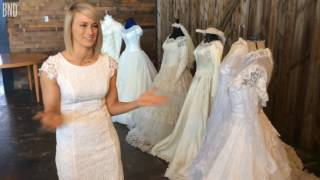 Bride puts generations of family wedding dresses on display