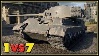 Tiger II - 11 Kills - 1 VS 7 - World of Tanks Gameplay