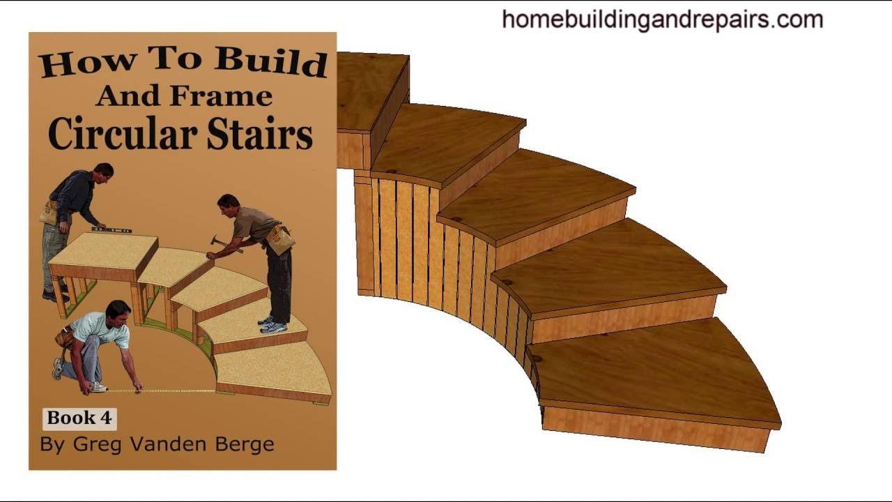 How To Build And Frame Curved Circular Stairway U2013 Example 5 From Book    YouTube