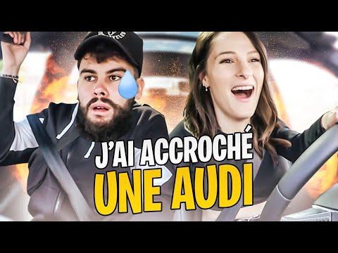 Audi nous prêtent une voiture avec @LeBouseuh mais je l'accroche (c'est la merde) 🤦♀️