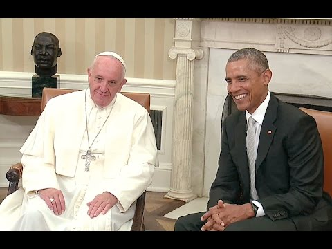 President Obama & Pope Francis Meet in the West Wing