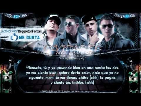 """Magnate & Valentino Ft. Nicky Jam, Alberto Style - """"Olvidarte no Quiero"""" con Letra ★2012★"""