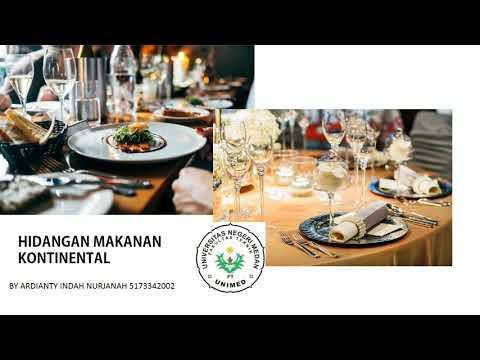 Hidangan Makanan Kontinental By Ardianty Indah Nurjanah Youtube